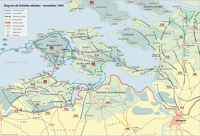 Battle of the Westerschelde Cartografie Erik van Oosten