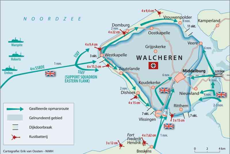 Battle of Walcheren Cartografie Erik van Oosten