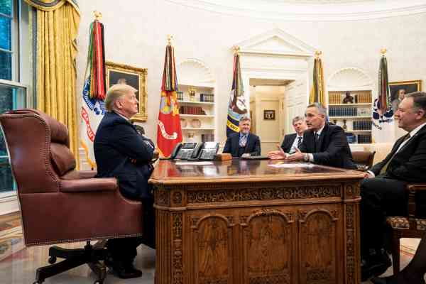 Donald Trump Jens Stoltenberg